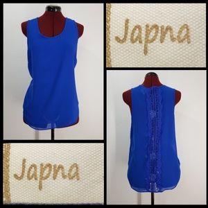 Japna woman sleeveless blouse size large sheer